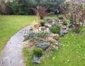 Гряда с растениями на горке часто размещается вдоль дорожек или стенок (альпийская горка - миксбордер)