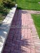 Садовая дорожка из тротуарной плитки (цветная бетонная: розовая, красноватая, кирпичного цвета) - 106