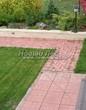 Садовая дорожка из тротуарной плитки (цветная бетонная: розовая, красноватая, кирпичного цвета) - 113