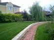Садовая дорожка из тротуарной плитки (цветная бетонная: розовая, красноватая, кирпичного цвета) - 116