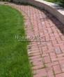 Садовая дорожка из тротуарной плитки (цветная бетонная: розовая, красноватая, кирпичного цвета) - 121