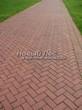 Садовая дорожка из тротуарной плитки (цветная бетонная: розовая, красноватая, кирпичного цвета) - 123