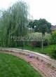 Садовая дорожка из тротуарной плитки (цветная бетонная: розовая, красноватая, кирпичного цвета) - 124