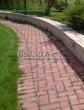 Садовая дорожка из тротуарной плитки (цветная бетонная: розовая, красноватая, кирпичного цвета) - 126