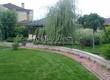 Садовая дорожка из тротуарной плитки (цветная бетонная: розовая, красноватая, кирпичного цвета) - 129
