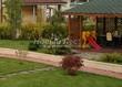 Садовая дорожка из тротуарной плитки (цветная бетонная: розовая, красноватая, кирпичного цвета) - 133