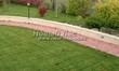 Садовая дорожка из тротуарной плитки (цветная бетонная: розовая, красноватая, кирпичного цвета) - 136