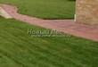 Садовая дорожка из тротуарной плитки (цветная бетонная: розовая, красноватая, кирпичного цвета) - 137