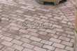 Садовая дорожка из тротуарной плитки (цветная бетонная: розовая, красноватая, кирпичного цвета) - 138