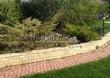 Садовая дорожка из тротуарной плитки (цветная бетонная: розовая, красноватая, кирпичного цвета) - 140