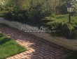 Садовая дорожка из тротуарной плитки (цветная бетонная: розовая, красноватая, кирпичного цвета) - 144