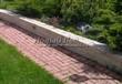Садовая дорожка из тротуарной плитки (цветная бетонная: розовая, красноватая, кирпичного цвета) - 157