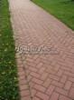 Садовая дорожка из тротуарной плитки (цветная бетонная: розовая, красноватая, кирпичного цвета) - 158