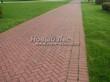 Садовая дорожка из тротуарной плитки (цветная бетонная: розовая, красноватая, кирпичного цвета) - 161