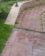 Садовая дорожка из тротуарной плитки (цветная бетонная: розовая, красноватая, кирпичного цвета) - 162