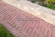 Садовая дорожка из тротуарной плитки (цветная бетонная: розовая, красноватая, кирпичного цвета) - 163