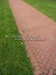Садовая дорожка из тротуарной плитки (цветная бетонная: розовая, красноватая, кирпичного цвета) - 164