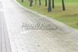 Садовая дорожка из бетона (темная серая тротуарная плитка) - 104