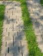 Садовая дорожка из бетона (темная серая тротуарная плитка) - 106