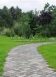 Садовая дорожка из бетона (темная серая тротуарная плитка) - 108