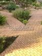 Садовая дорожка из бетона (темная серая тротуарная плитка) - 111