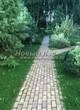 Садовая дорожка из бетона (темная серая тротуарная плитка) - 117