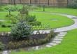 Садовая дорожка из бетона (темная серая тротуарная плитка) - 121