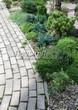 Садовая дорожка из бетона (темная серая тротуарная плитка) - 122
