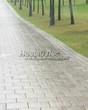 Садовая дорожка из бетона (темная серая тротуарная плитка) - 124