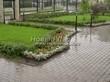 Садовая дорожка из бетона (темная серая тротуарная плитка) - 125