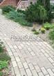 Садовая дорожка из бетона (темная серая тротуарная плитка) - 131