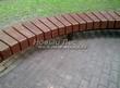 Садовая дорожка из бетона (темная серая тротуарная плитка) - 132
