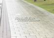 Садовая дорожка из бетона (темная серая тротуарная плитка) - 136