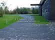 Садовая дорожка из бетона (темная серая тротуарная плитка) - 138