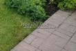 Садовая дорожка из бетона (темная серая тротуарная плитка) - 142