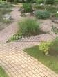 Садовая дорожка из бетона (темная серая тротуарная плитка) - 143