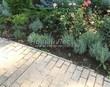 Садовая дорожка из бетона (темная серая тротуарная плитка) - 158