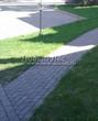 Бетонная садовая дорожка (светлая тротуарная плитка, брусчатка) - 102