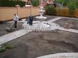 Бетонная садовая дорожка (светлая тротуарная плитка, брусчатка) - 106