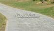 Бетонная садовая дорожка (светлая тротуарная плитка, брусчатка) - 110