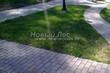 Бетонная садовая дорожка (светлая тротуарная плитка, брусчатка) - 111