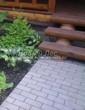 Бетонная садовая дорожка (светлая тротуарная плитка, брусчатка) - 113