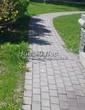 Бетонная садовая дорожка (светлая тротуарная плитка, брусчатка) - 114