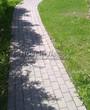 Бетонная садовая дорожка (светлая тротуарная плитка, брусчатка) - 118
