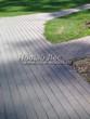 Бетонная садовая дорожка (светлая тротуарная плитка, брусчатка) - 120