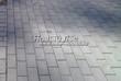 Бетонная садовая дорожка (светлая тротуарная плитка, брусчатка) - 124