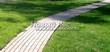 Бетонная садовая дорожка (светлая тротуарная плитка, брусчатка) - 125