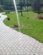 Бетонная садовая дорожка (светлая тротуарная плитка, брусчатка) - 127