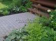 Бетонная садовая дорожка (светлая тротуарная плитка, брусчатка) - 128