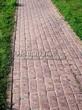 Садовая дорожка из бручатки (бетон, отлив под старину) - 102